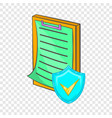 clipboard with insurance form icon cartoon style vector image