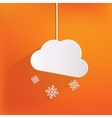 Cloud with snow web icon vector image