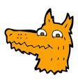 comic cartoon fox head vector image vector image
