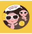 Cool babies with money vector image