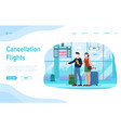couple standing in airport with flight vector image