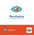creative eye logo design flat color logo place vector image vector image