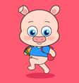 Cute Piggy Go to School vector image vector image