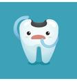 Decay tooth unhappy vector image vector image