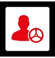 Driver Icon from Commerce Buttons OverColor Set vector image