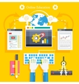 Education online education professional education vector image