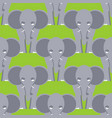 elephant seamless pattern african wild beast vector image vector image