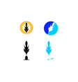 feather logo collection vector image