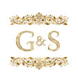 g and s vintage initials logo symbol vector image