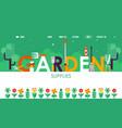 garden supplies website design vector image vector image