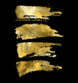 gold paint smear stroke stain set