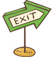 green exit sign board vector image