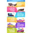 ground transportation infographics vector image
