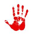 Handprint vector image vector image