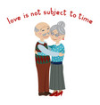 happy grandparents embrace vector image