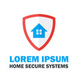 Home Secure System Logo Design vector image vector image