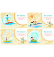 hot summer water sport color vector image vector image