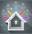 house abstract 3d icon business infographic vector image vector image