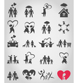 Icons a family vector image vector image