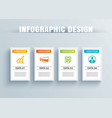 infographics square paper with 4 data template vector image vector image