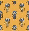 jellyfish seamless pattern vector image
