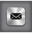 Mail icon - metal app button vector | Price: 1 Credit (USD $1)