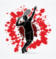 man tennis player sport man pose serve vector image vector image