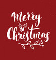 merry christmas calligraphic lettering vector image vector image