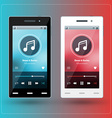 Modern smartphone with musical player on the vector image vector image