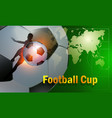 modern sports flyer design with football in green vector image vector image
