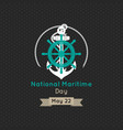 national maritime day design vector image vector image