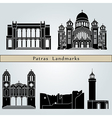 Patras landmarks and monuments vector image vector image