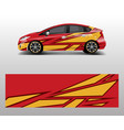 racing car wrap abstract strip shapes for company vector image vector image
