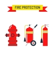 Red fire hydrant emergency department flat vector image vector image