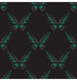 Seamless pattern with green-black butterfly vector image