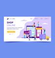 shop online landing page - concept vector image
