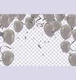 silver balloons confetti and ribbons flag vector image vector image