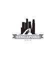 Singapore Asia city symbol silhouette vector image vector image