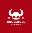 skull horn bull logo icon vector image