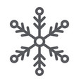 snowflake line icon weather and climate snow vector image
