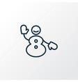 snowman icon line symbol premium quality isolated vector image vector image