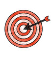 target with arrow isolated icon vector image vector image