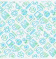 technologies seamless pattern with thin line icons vector image vector image