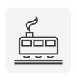 train icon black vector image vector image