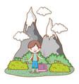 traveler ecological tourism vector image vector image