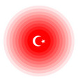 turkey earthquake wave with circle vibration icon vector image