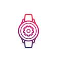 watch repair icon logo vector image vector image