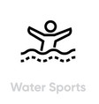 water sports activity icon vector image vector image