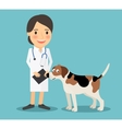 Female Veterinarian Doctor vector image