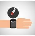 smartwatch device health syringe vector image